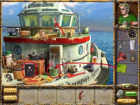 Am Deck des Bootes